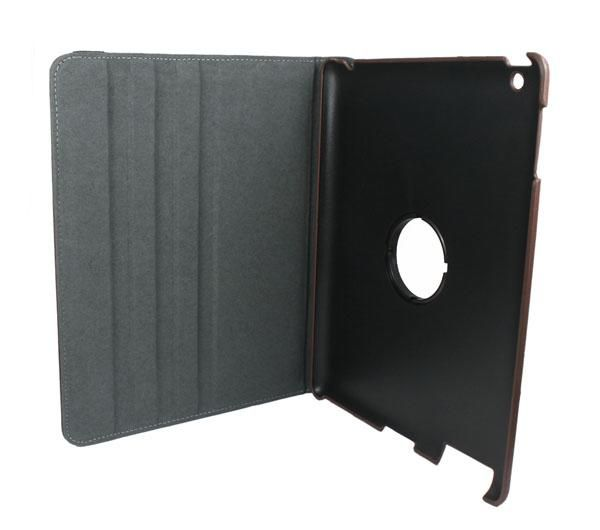 Smart Cover Leather Case With Rotating Stand For Apple iPad 2