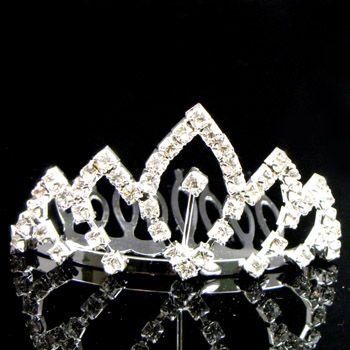 ADDL Item  clear Austrian rhinestone hair comb tiara