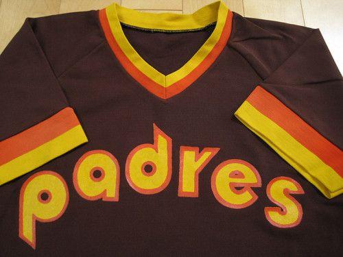 SUPER 1984 vtg SAN DIEGO PADRES JERSEY shirt 80s MEDIUM